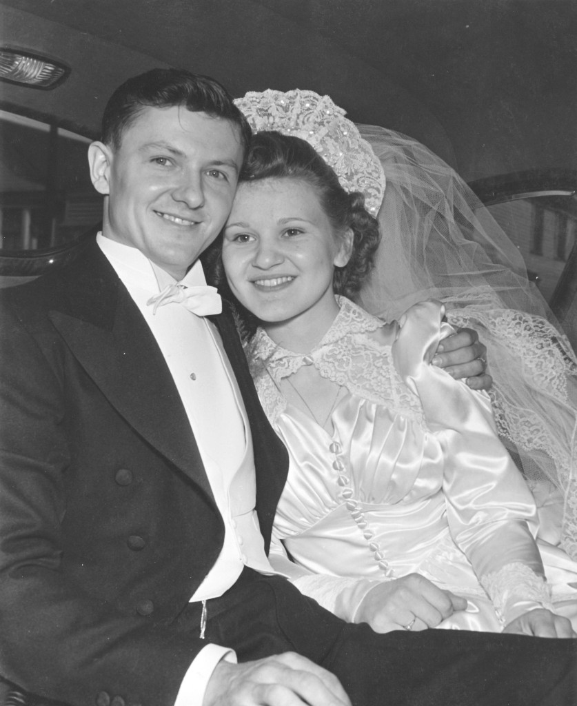 Neil's grandparents' wedding photo, circa 1942