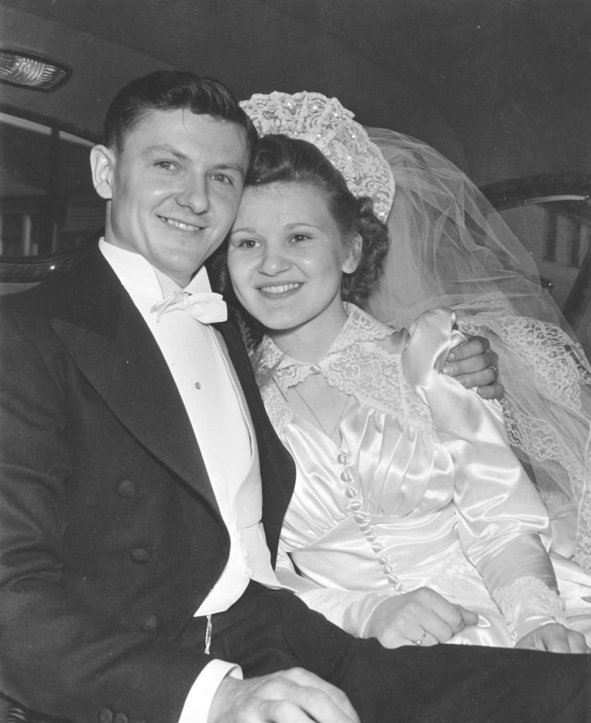 Neil's grandparents' wedding photo, circa 1942