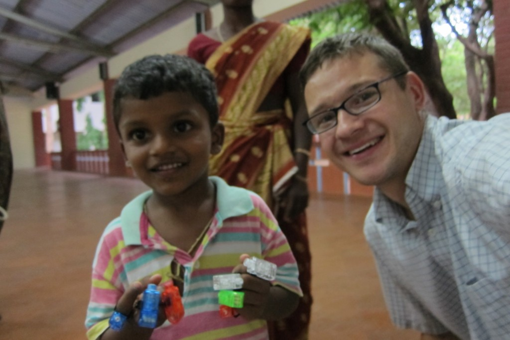 Neil meeting our sponsored child.