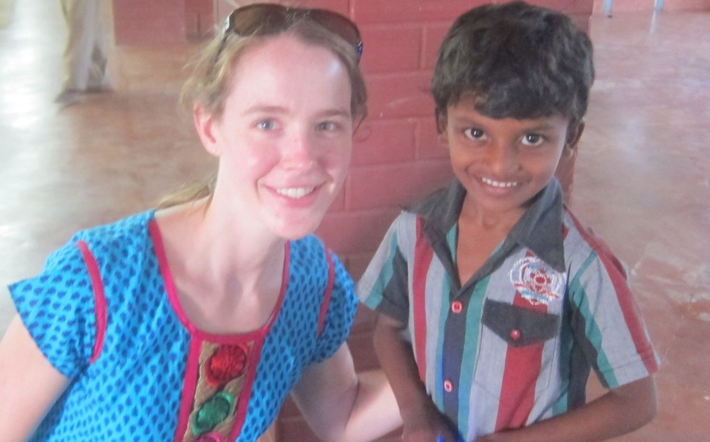 Meeting my sponsored child.