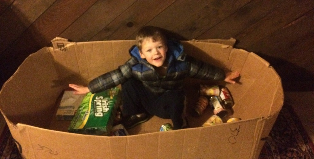 My son's spontaneous food drive last year.