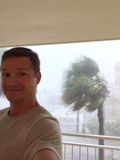 Neil's hurricane selfie.